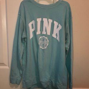 VS PINK teal sweatshirt